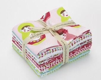 Merry Matryoshka Fat Quarter Bundle from Riley Blake