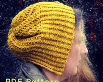 Golden Hat PDF Knitting Pattern