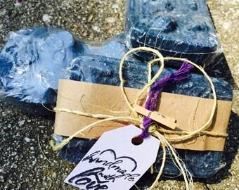 Black raspberry charcoal soap
