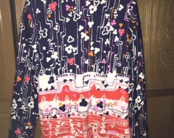 Vintage STOCKTON Polyester Knit zip front tunic or dress Sz M