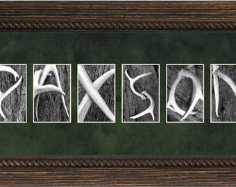 Wood Frames Ready-to-Hang Western Alphabet Art
