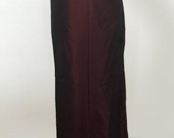 Burgundy Carmen Marc Valvo Skirt