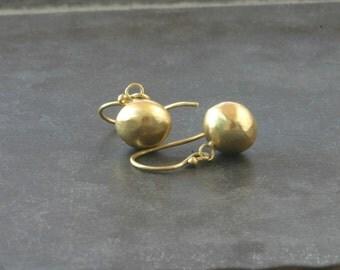 Earrings 18 kt, balls