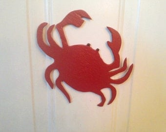 Wooden Hand-Crafted Crab