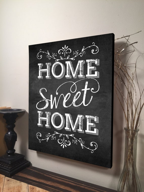 Home Sweet Home Sign Home Sweet Home Print by RusticaHomeDecor