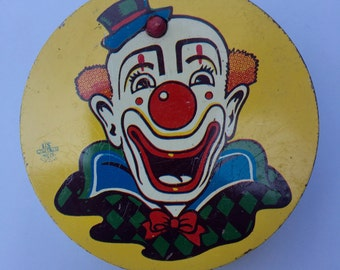 Vintage Tin Noisemaker with Clown Face Price Reduced