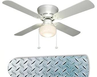Ceiling fan blade etsy for Repurpose ceiling fan motor