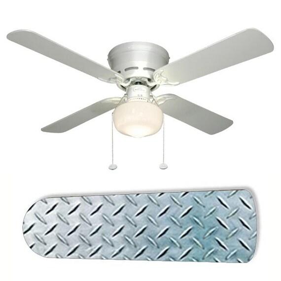 Garage Shop Lights Amazon Com: Diamond Plate Garage Shop Ceiling Fan W/Light Kit Or Blades