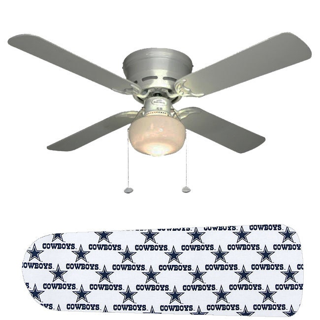 NFL Dallas Cowboys Stars Ceiling Fan W/Light Kit Or Blades