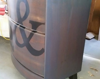 Bow front Nightstand