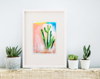 Cactus Print // Instant Digital Download // Printable Art // Wall Art Print // Home Decor Digital Print