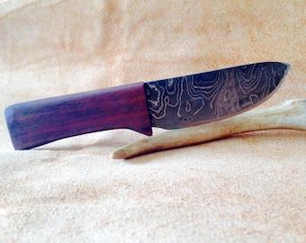 Damascus knife w/ walnut handle