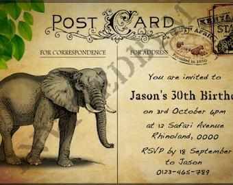 Jungle Safari Animal Invitation