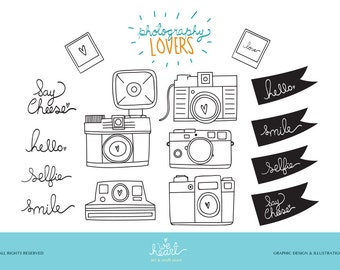 Camera Clipart | Hand drawn camera | Camera Lovers