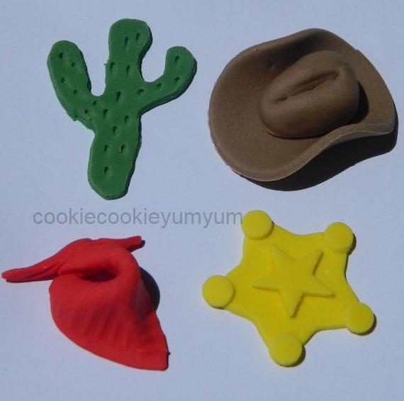 Cowgirl Edible Cake Topper