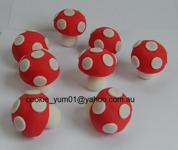 how to make edible mushroom decorations
