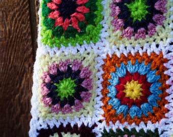 Patchwork Hand-Knit Scarf