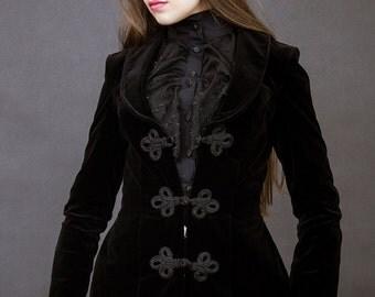 velvet jacket gothic lolita goth victorian