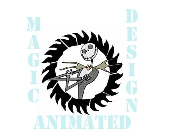 Jack Skellington Machine Embroidery Design in 5X7 ---Instant download---