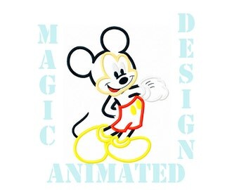 Mickey Mouse Machine Applique Design in 3 sizes ---Instant download---