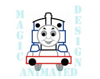 Thomas the Tank Engine Machine Applique Design in 3 sizes ---Instant download---