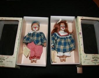 Original Heidi Ott Clown Dolls (Boy Girl Pair)