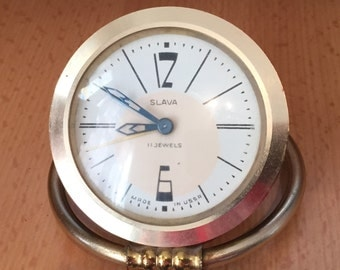 Soviet Vintage Slava alarm clock, slava watch, USSR, working