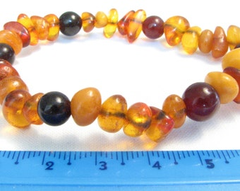 Old Vintage Baltic Amber and Pressed Amber bracelet authentic jewellery FREE SHIPPING! 850
