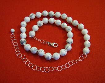 Beautiful Howlite and Sterling Silver Necklaces
