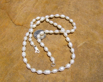 White Pearls and Sterling Silver Necklace