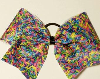 Sprinkles - cheer bow - custom: choose your favorite color sprinkles