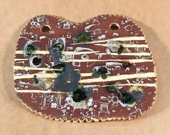 Cyberspace Landscape I iPODDERY Vania Setti Settiarts Ceramics Art Stoneware Plaque