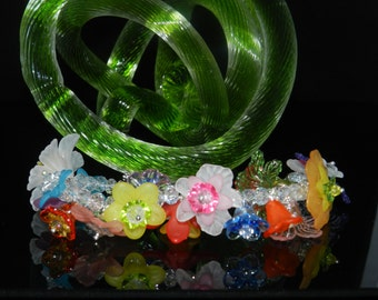 """CLEARANCE* FT421 Lucite Flower 6"""""""