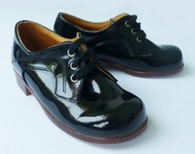 70's Patent Leather Formal Toddler Shoes Made in France EU 22-23-26