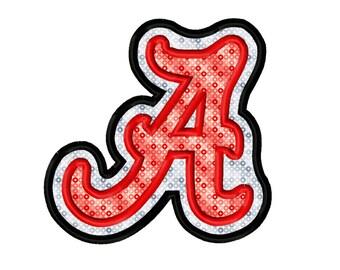 Alabama 2 Applique Embroidery Design 3x3 4x4 5x7 6x10  INSTANT DOWNLOAD