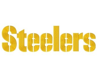 Steelers 2 Solid Fill Embroidery Design 4x4 5x7 6x10 7x12  INSTANT DOWNLOAD