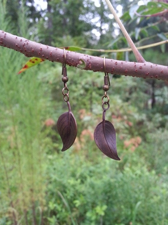 Elvish Leaf Dangle Earrings