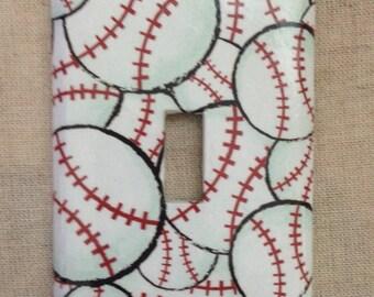 Baseball Light Switch Cover