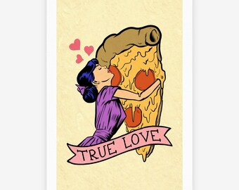 Pizza Love Poster Print