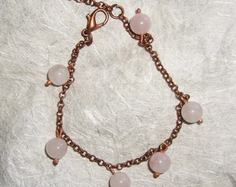 Bracelet with copper and tourmaline necklace