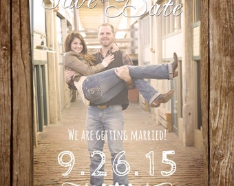 Rustic Photo Save the Date 5x7