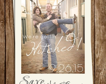 Rustic Photo Save the Date 5x7 #2