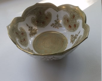 VINTAGE ANDREA by SADEK Bowl Gold Trim