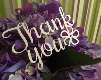 Thank You Flower Papercutting Template Personal Use