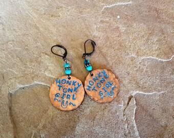 Honky Tonk Girl earrings