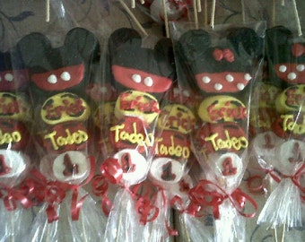 Mickey / Minnie Themed Marshmallow Pops