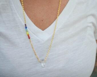 Crystal Chakra Energy Necklace