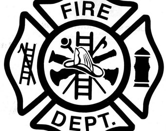 Firefighter  Maltese Cross Vinyl Decal