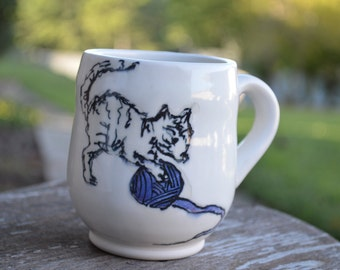 Ceramic Kitty Mug