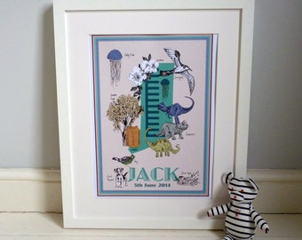 Personalised letter J print